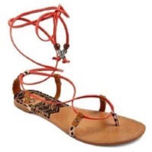 Dolce vita target red strap leopard sandals size 9
